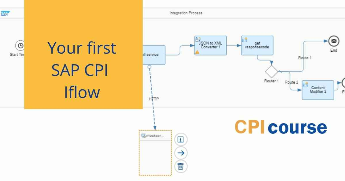 Create your first SAP CPI iflow