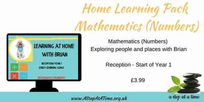 Adventures of Brian - Home Learning Pack - Mathematics (Number) (Rec. Year 1)
