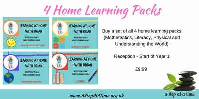 Adventures of Brian - PACK OF ALL 4 Home Learning Packs (Rec. Year 1)