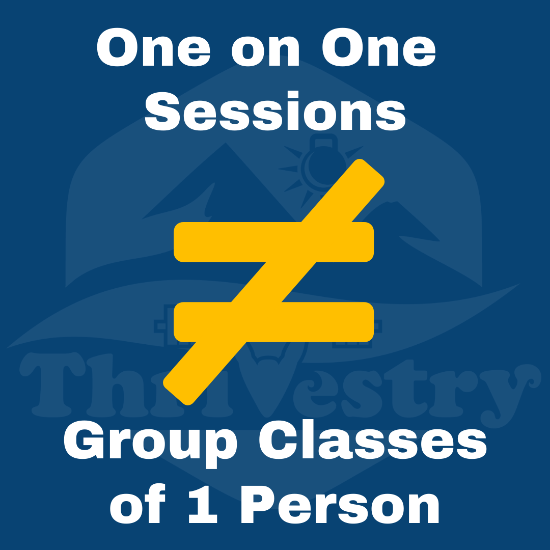 On on one does not equal group class of one