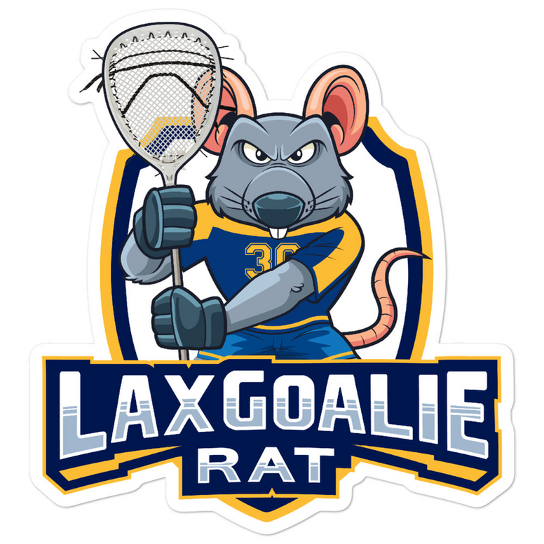 Lax Goalie Rat Sticker