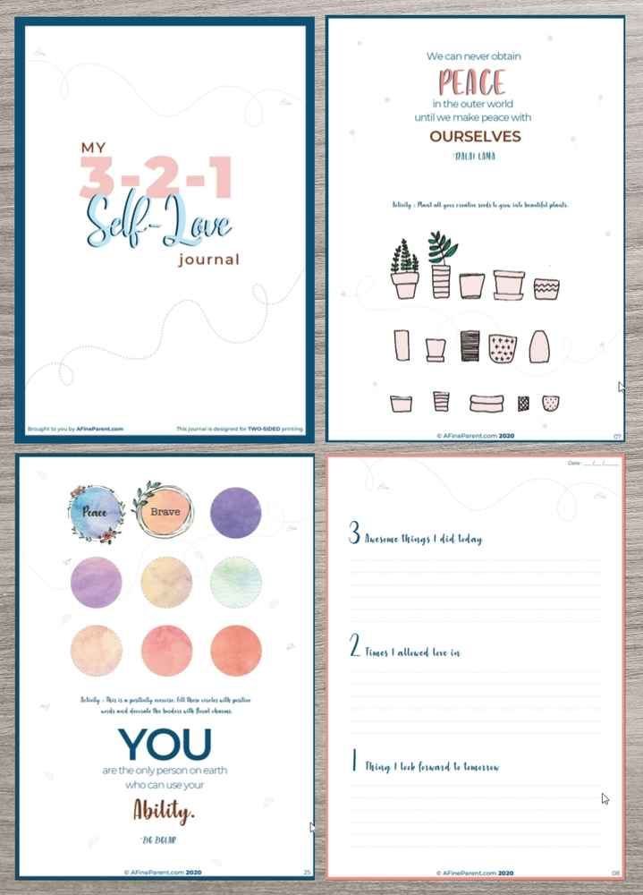 The 3-2-1 Self-Love Journal