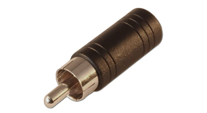 3.5mm mono socket to RCA (phono) male adapter