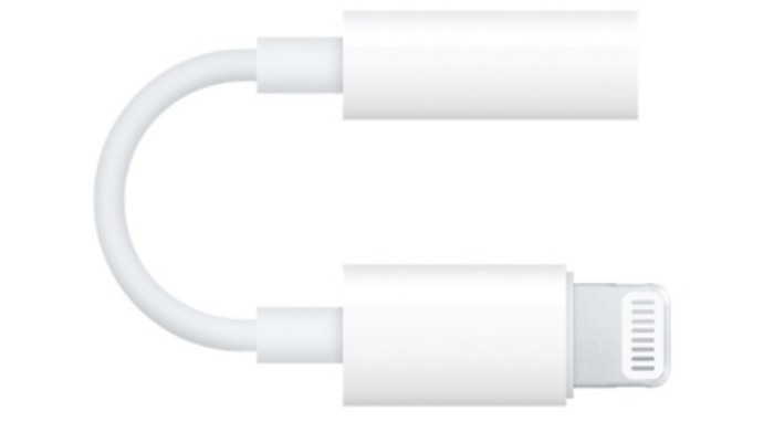 iPhone lightning USB to 3.5mm headphone jack adapter