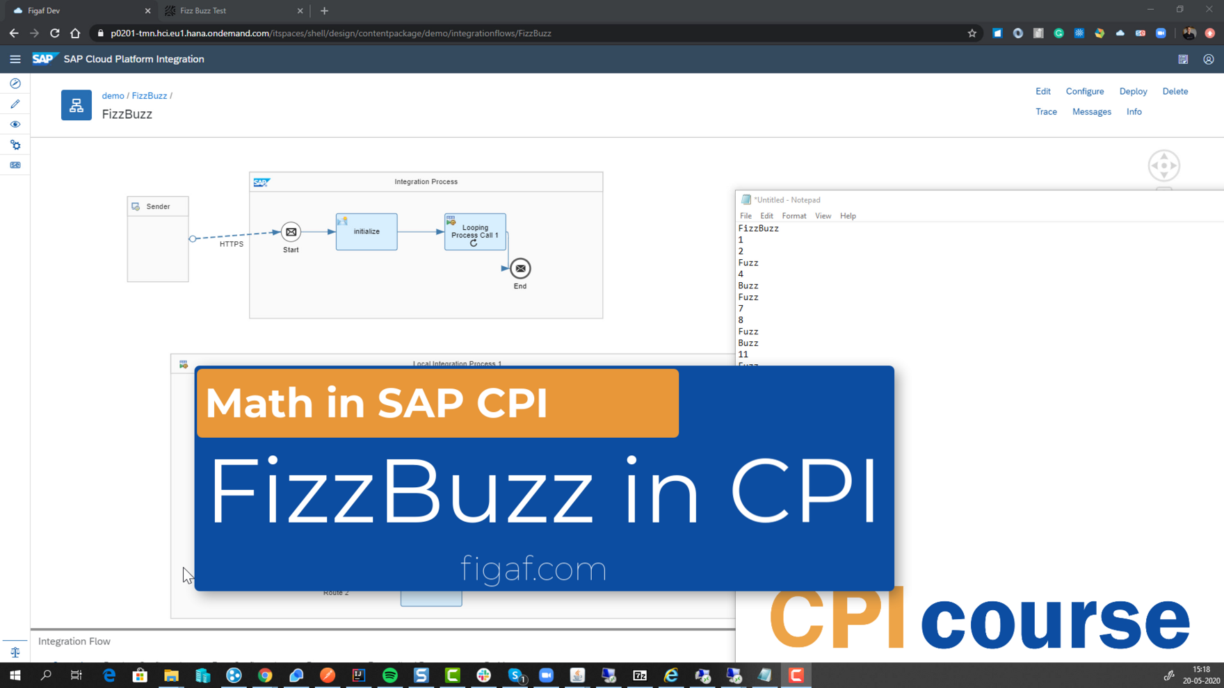 FizzBuzz in SAP CPI (Time 0_00_00;22)