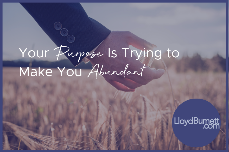 Your Purpose is Trying to Make You Abundant