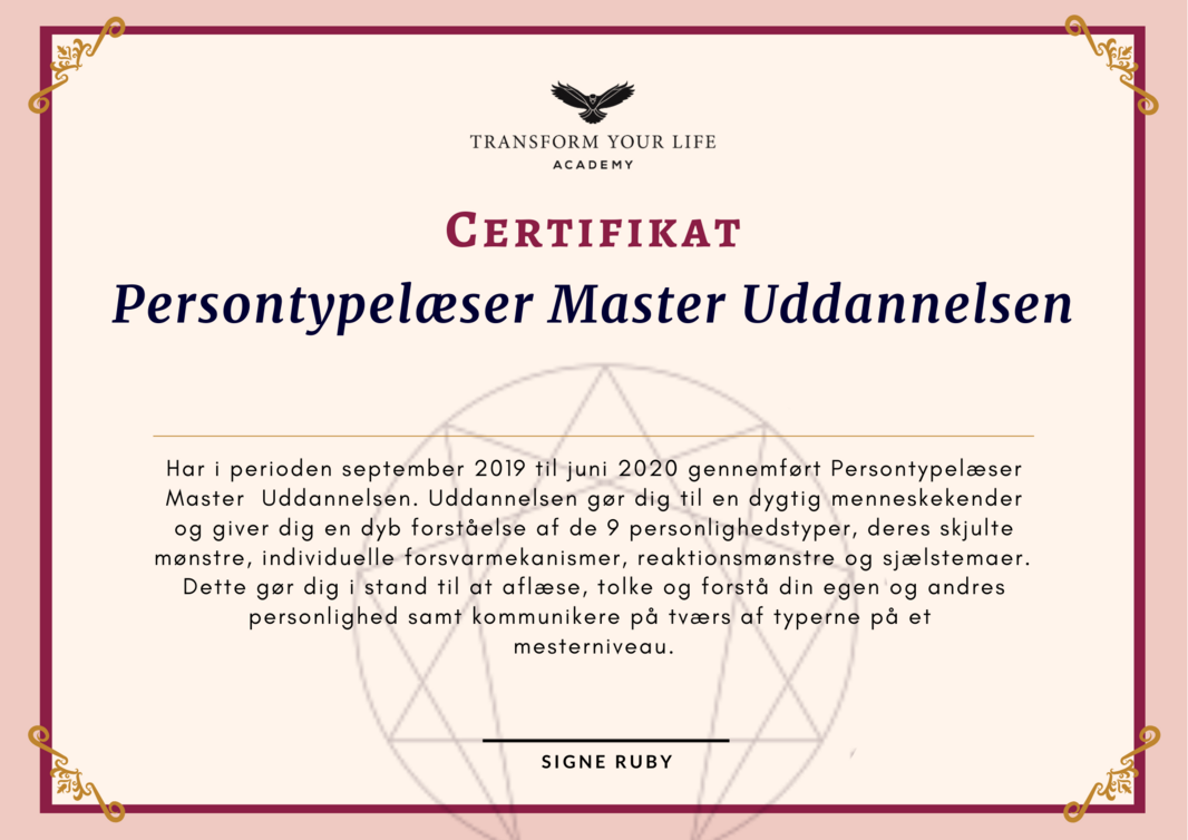 Persontypelæser Master certifikat