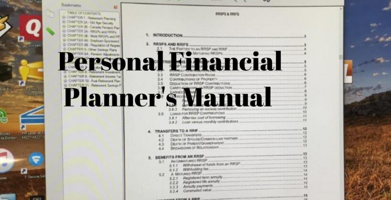 The Personal Financial Planner's Manual