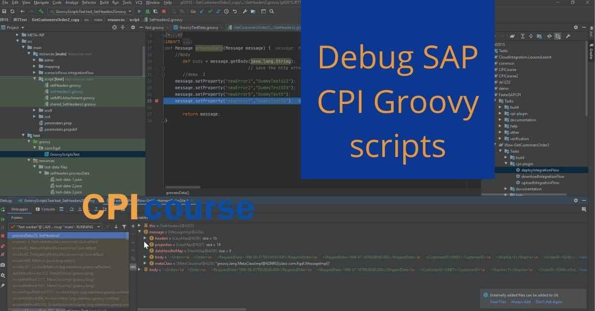 CPIcourse Debug SAP CPI Groovy scripts