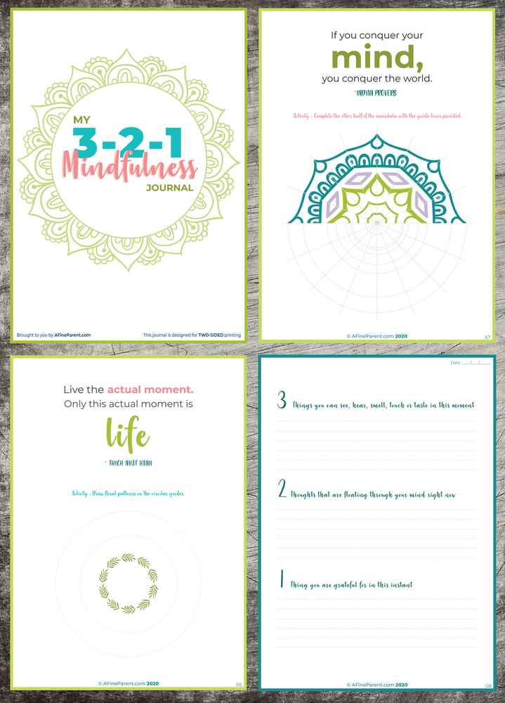 The 3-2-1 Mindfulness Journal