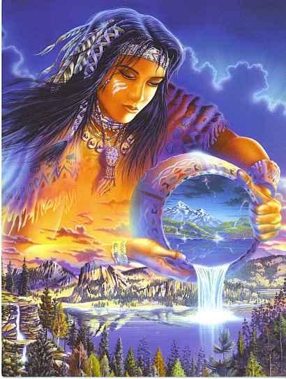 indian gaia light earth world art magic cosmic mother
