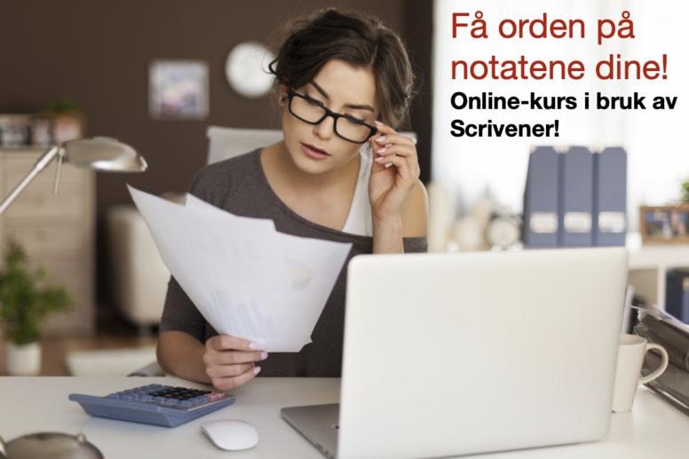 Online-kurs i bruk av Scrivener