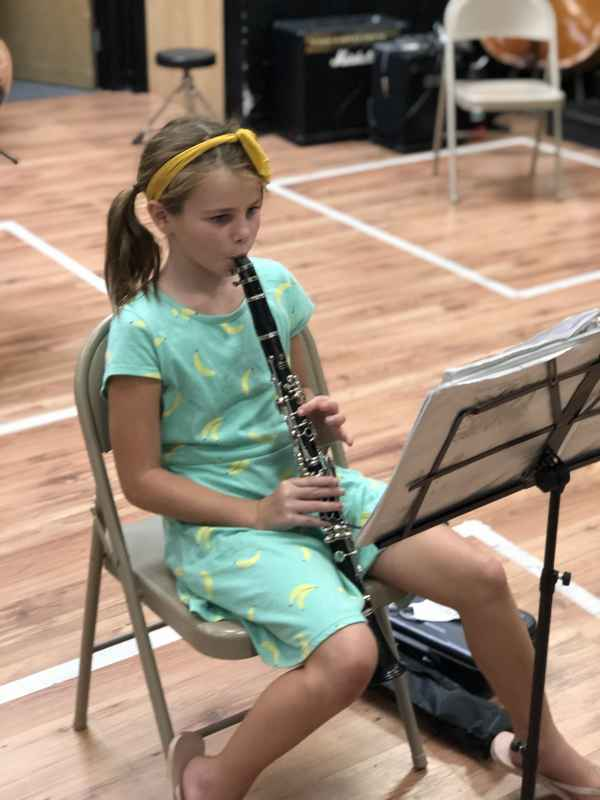 clarinet students woodwind lessons in elementary band