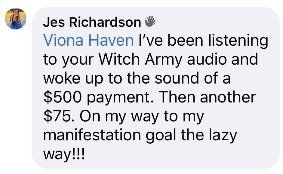 jes witch army testimonial