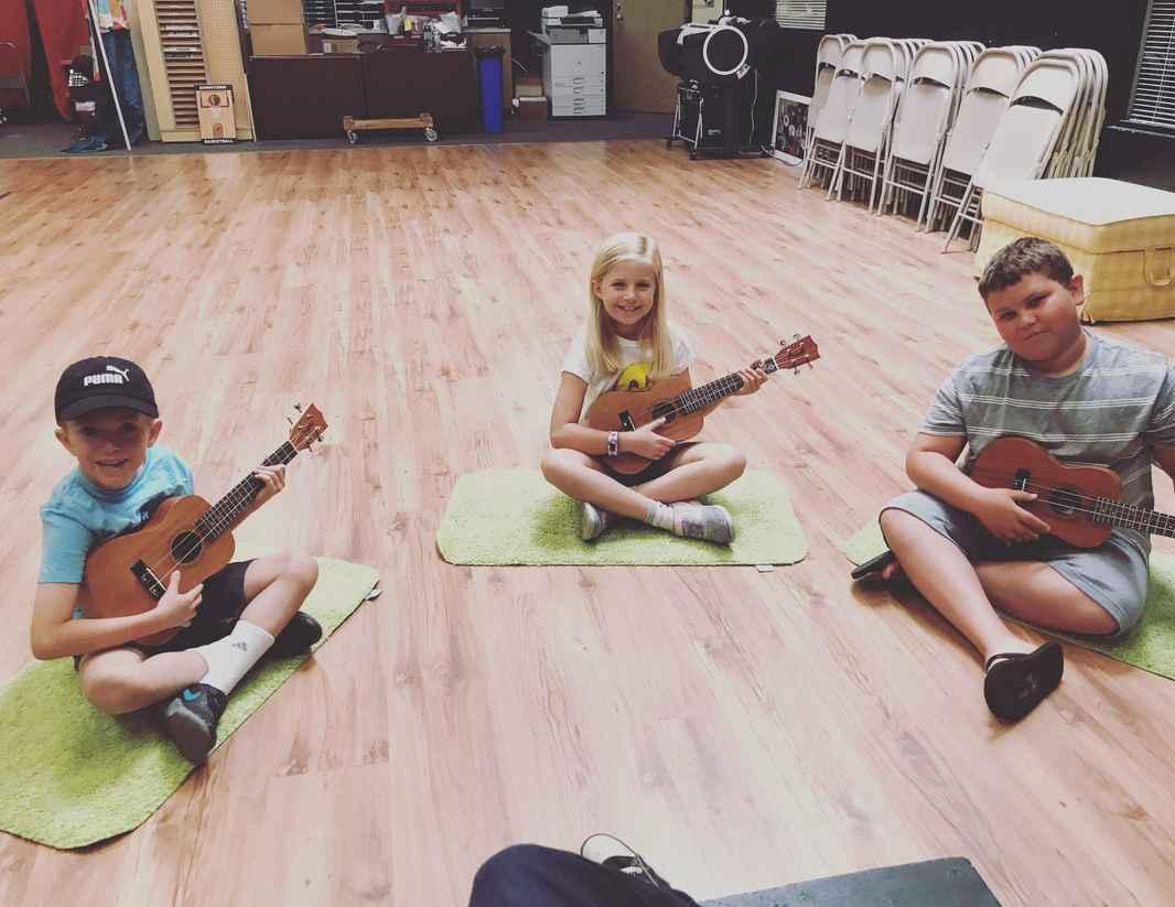 kids with ukuleles