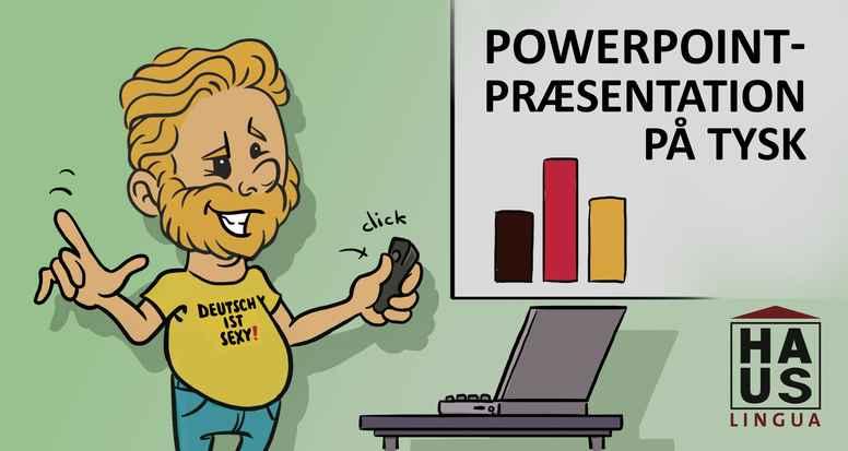 PowerPoint-præsentation på tysk
