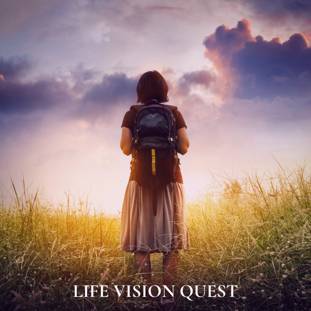 LIFE VISION QUEST GREEN field hike lady walk square insta