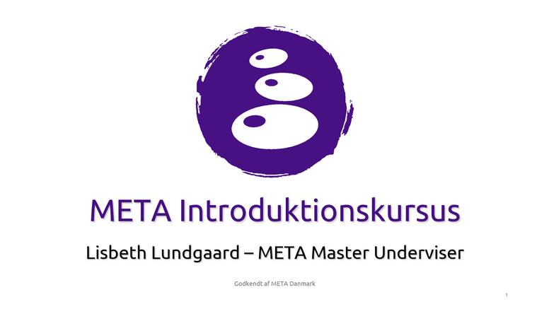 META Introduktions kursus
