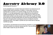 Ancestry Alchemy Modue 2 Manifesting with Ancestors
