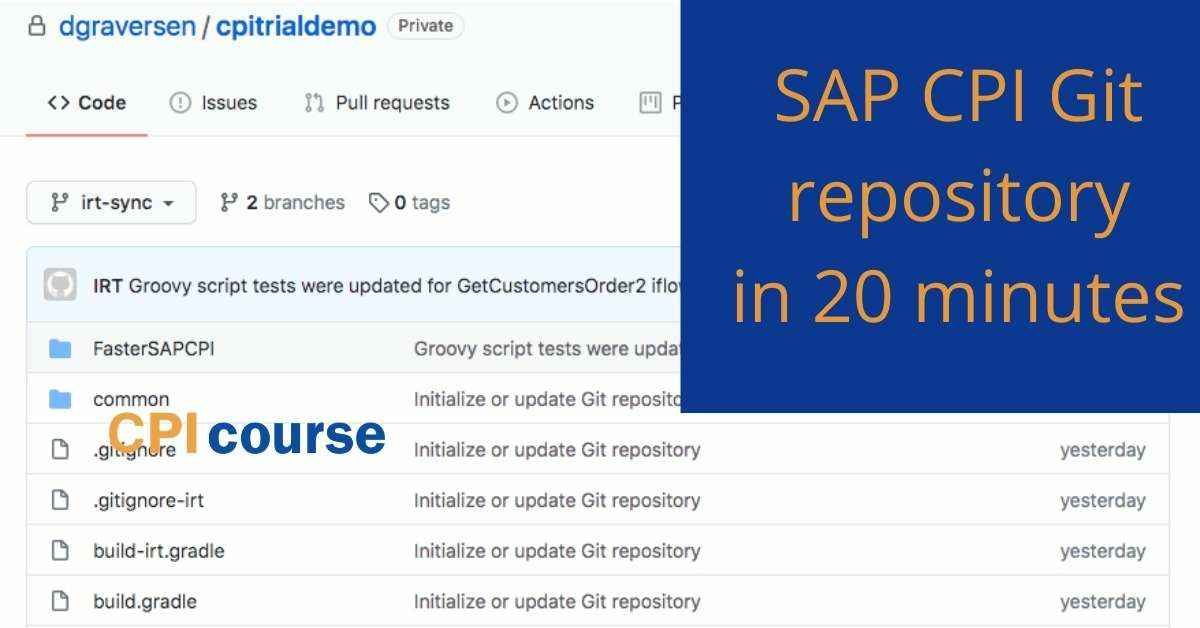 SAP CPI Git repository in 20 minutes