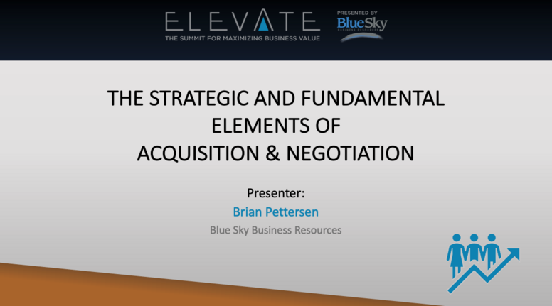 The Strategic and Fundamental Elements of Acquisition & Negotiation