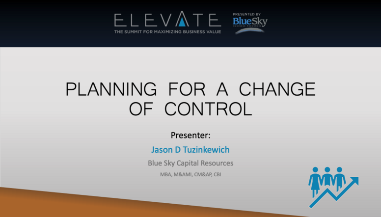 Planning for a Change of Control