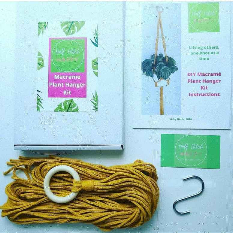 Half Hitch Happy - DIY Macrame Plant Hanger Kit