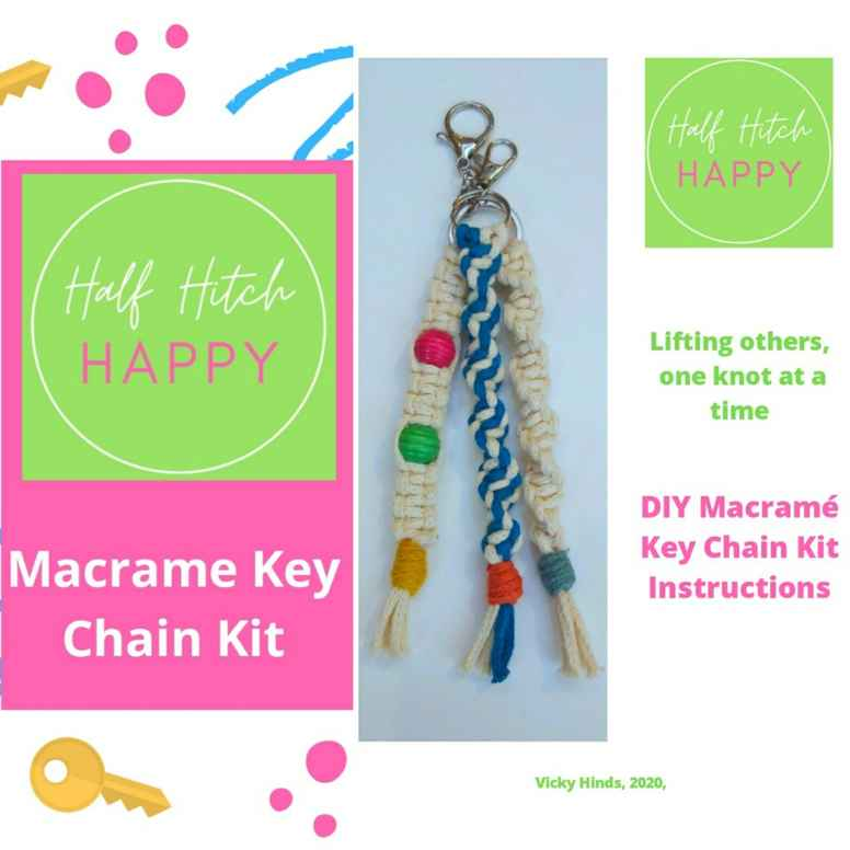 Half Hitch Happy - DIY Macrame Key Chain Kit