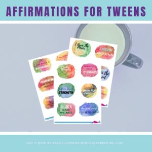 Tween affirmations