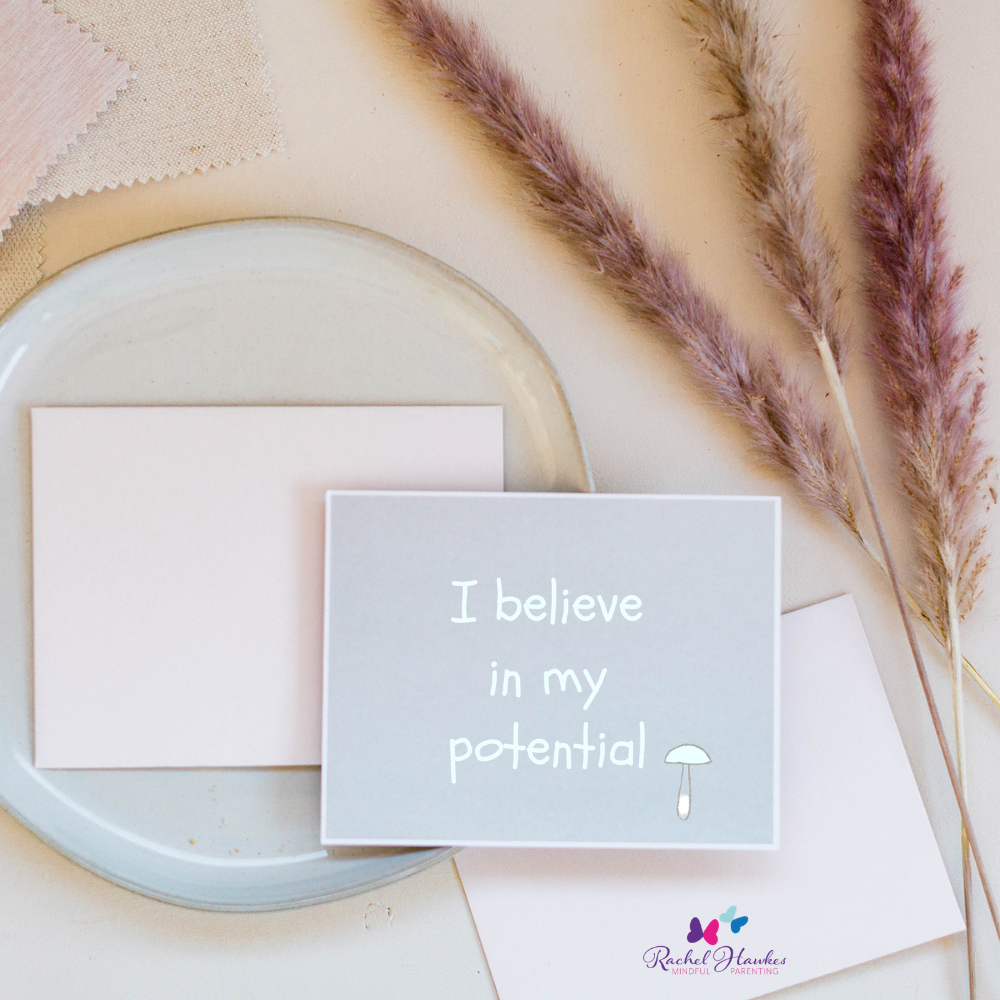 affirmations for mums card