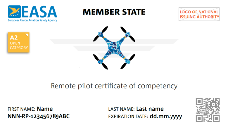 OPENA2 Certifikat
