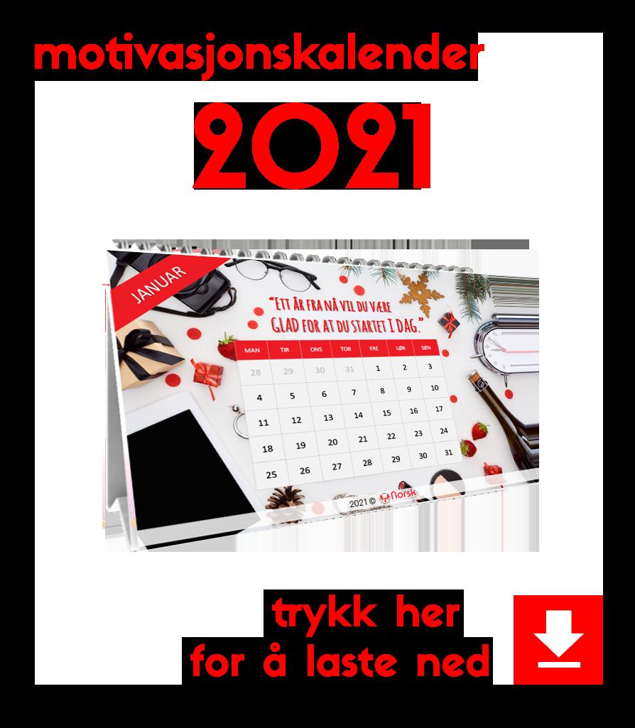 motivasjonskalender 2021 knapp