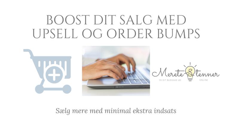 Boost dit salg med upsell og orderbumps i Simplero