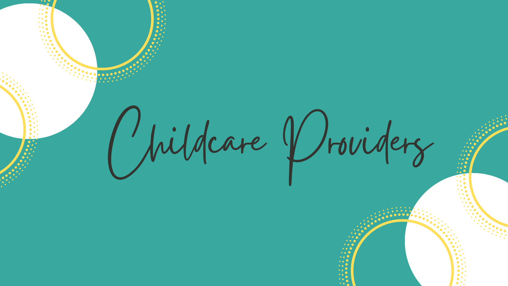 Childcare Providers_Banner