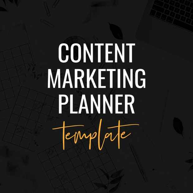 content marketing planner template
