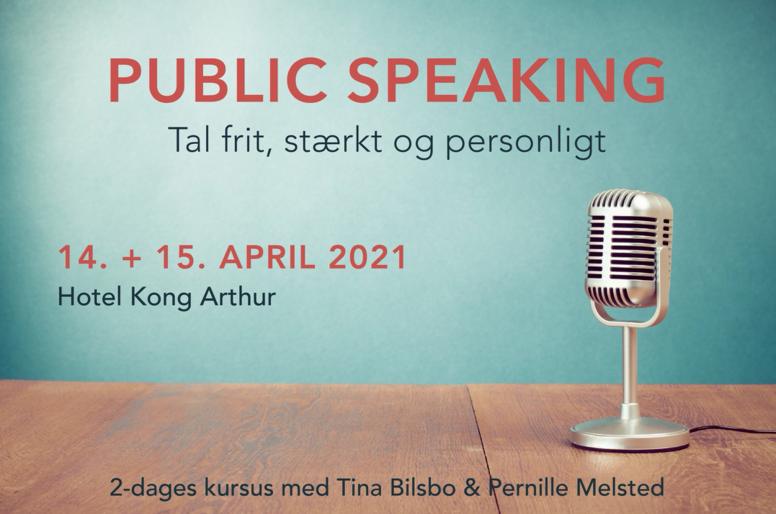 PUBLIC SPEAKING juni (tidligere april) 2021
