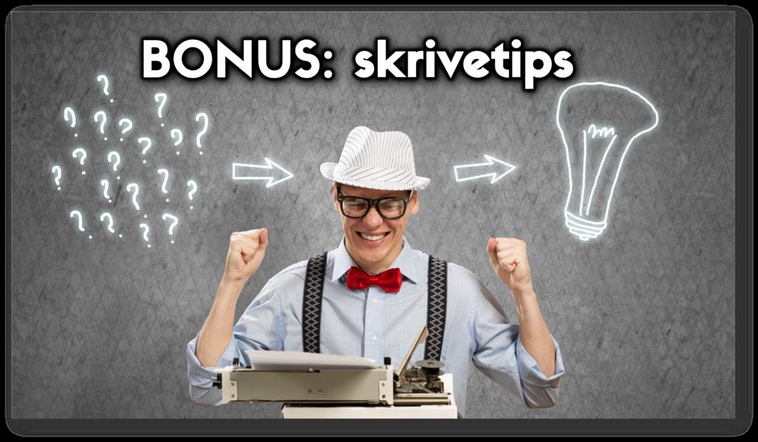 NFI-MÅN bonus skrivetips