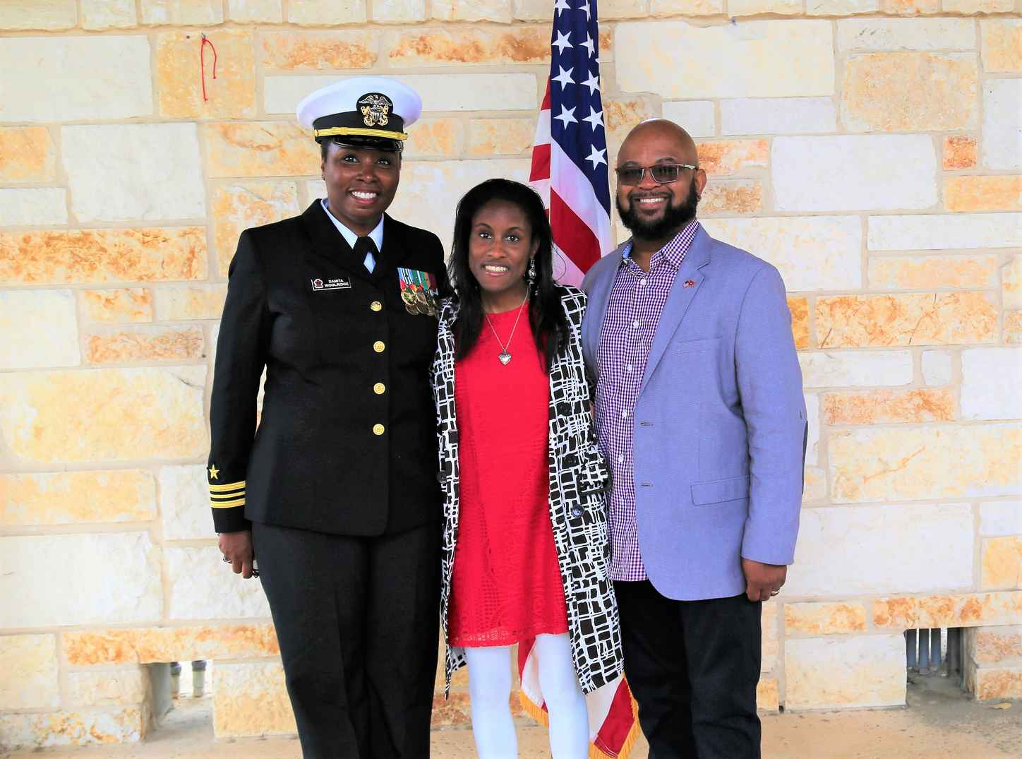 LCDR Dee Woolridge with family