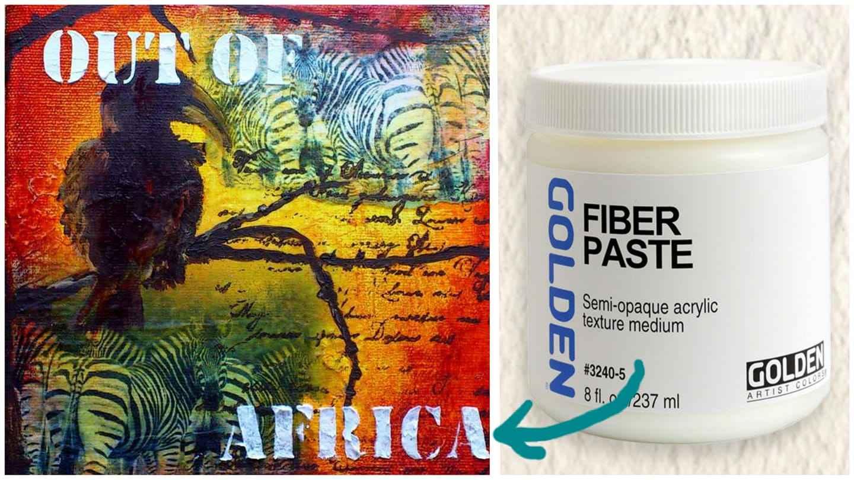Fiber paste og out of Africa