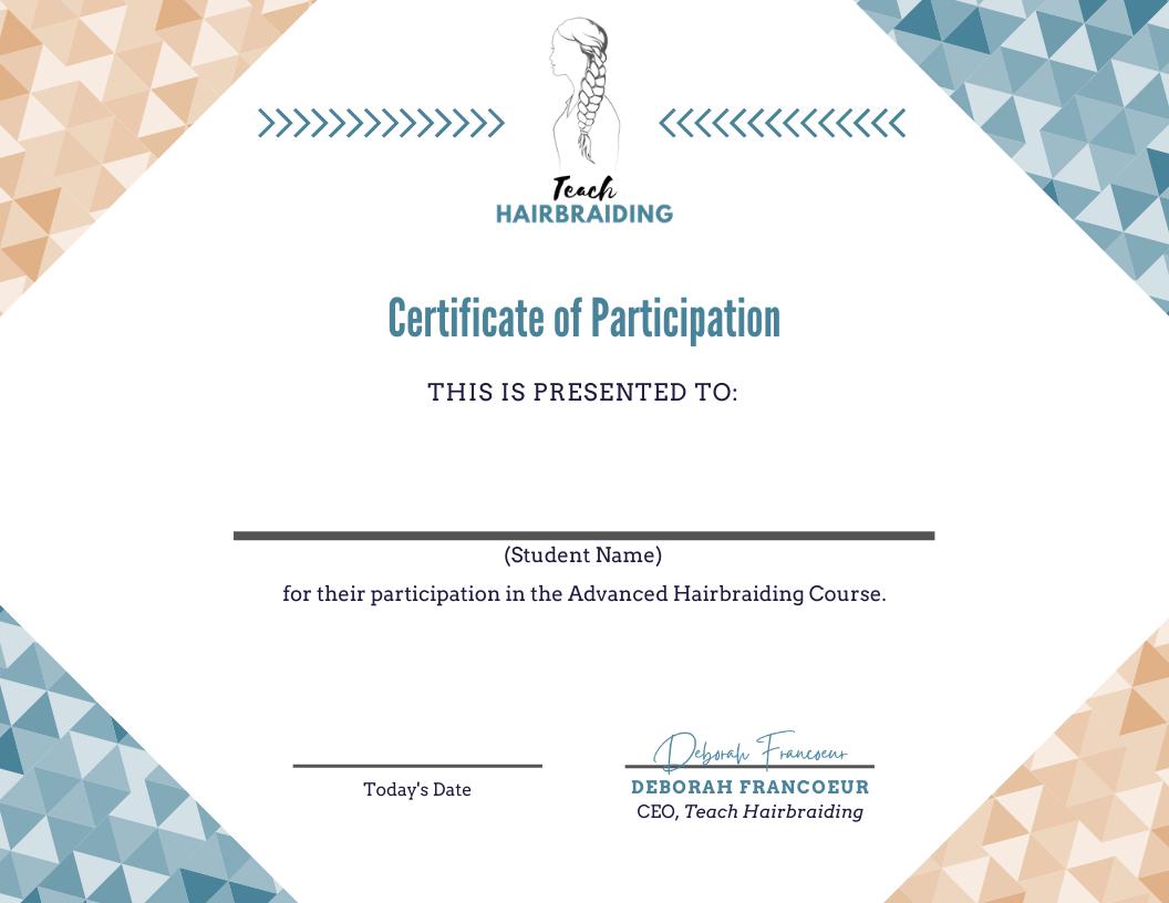 Certificate of Participation_Teach Hairbraiding