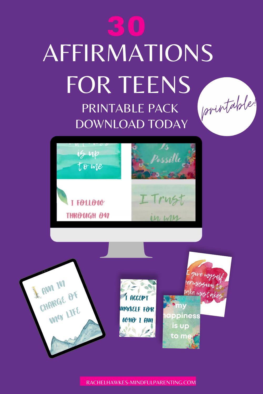 Pin teen affirmations