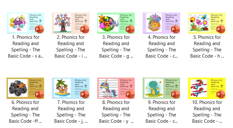 Done for you Phonics PowerPoints