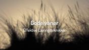 06 Gode vaner - Effektive Læringsteknikker (HD)