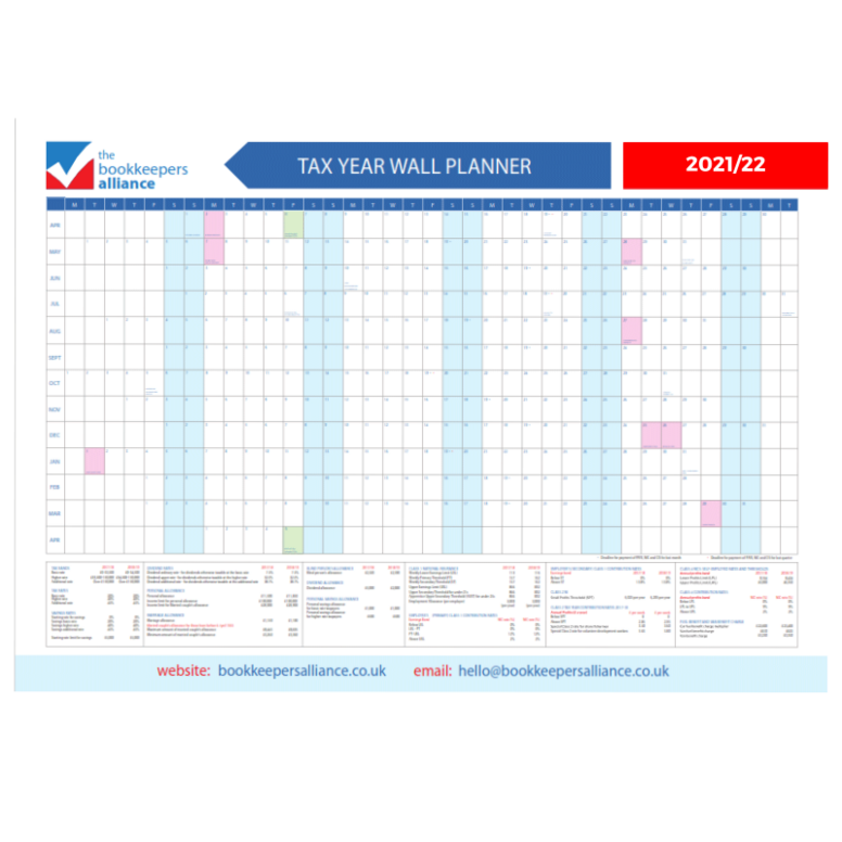 2021/22 Wall Planner