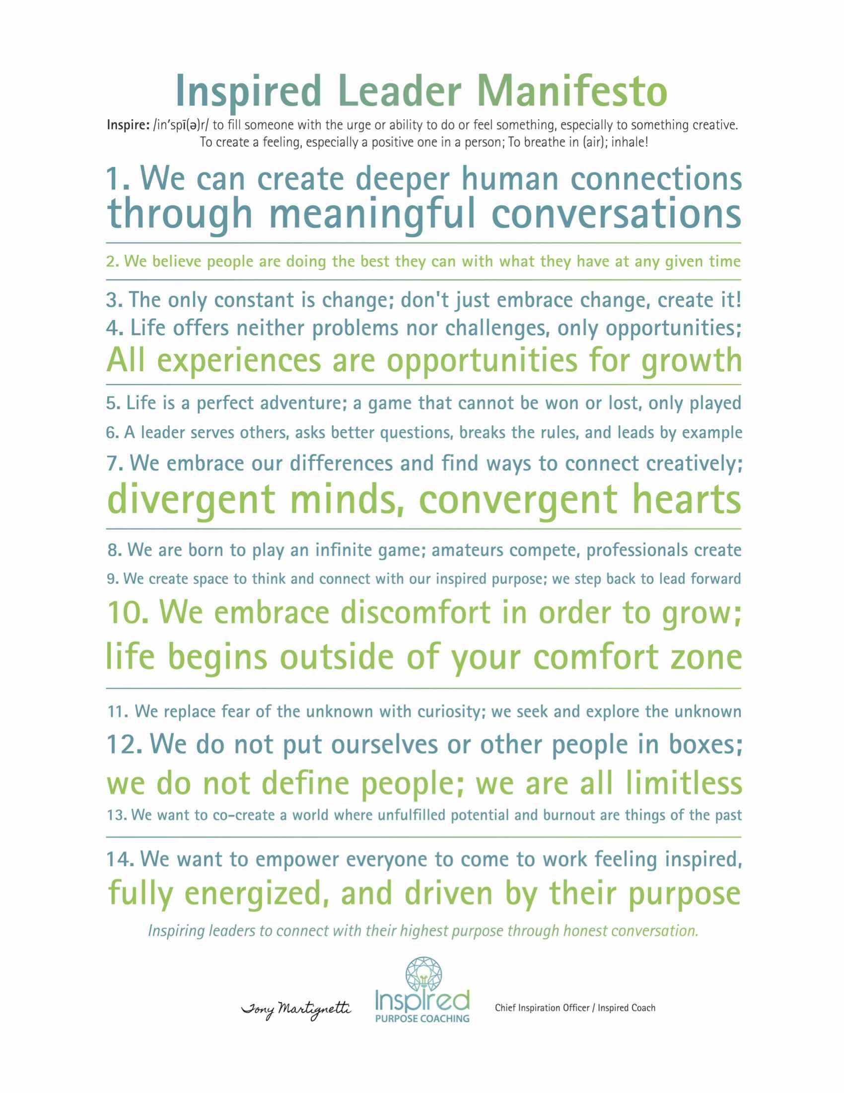 IPC Inspired Leader Manifesto