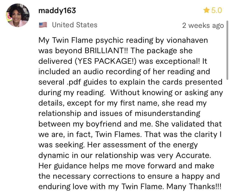 maddy163 psychic reading
