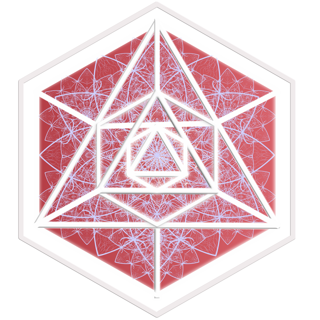 NEW LVQ icon octa triangle pyra fire red Frame