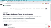 Long-Term Investment #1 (20 March 2021)