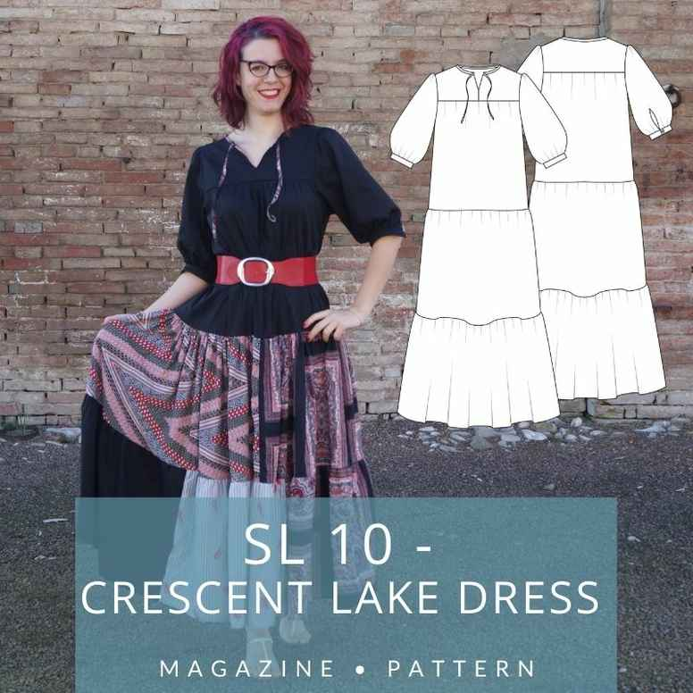 CRESCENT TIERED DRESS | Sewing Life Magazine 10
