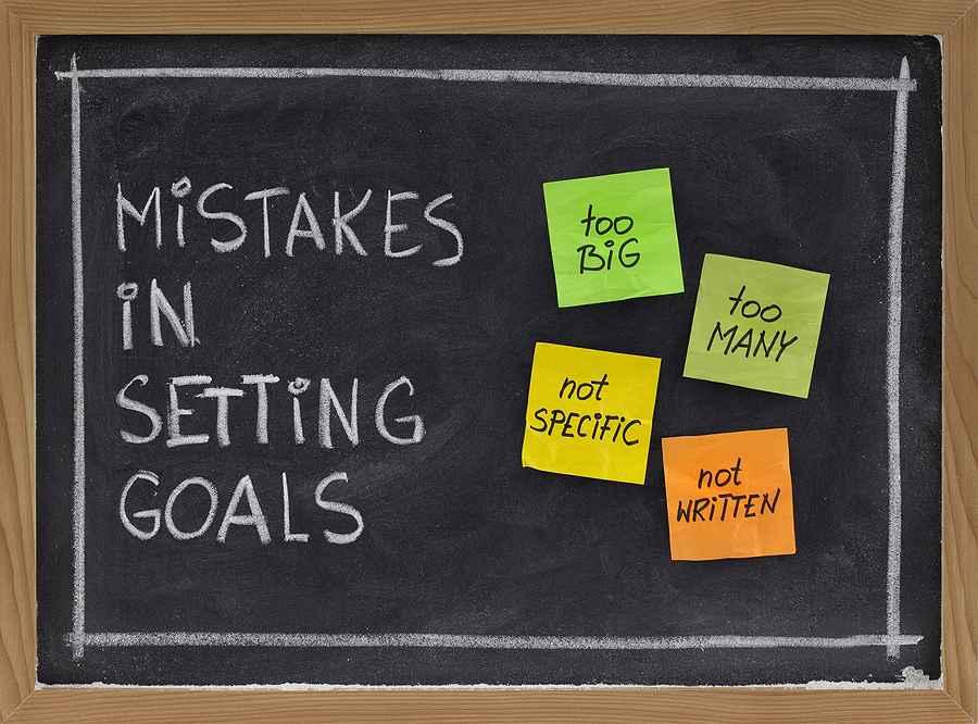 Mistakes in setting goals blackboard